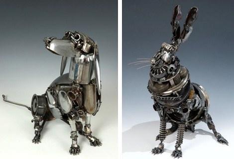 Les sculptures en pièces détachées de James Corbett