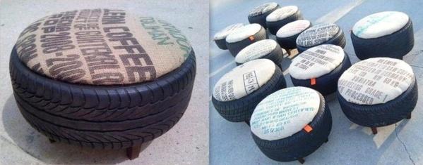 Faire un pouf ou siège d'appoint en recyclant
