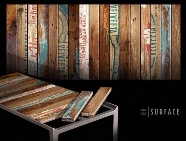 Id es tables basses en bois de palettes Table basse planche bois