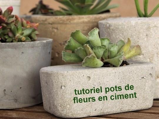 Faire des pots de fleurs en ciment, les tutos