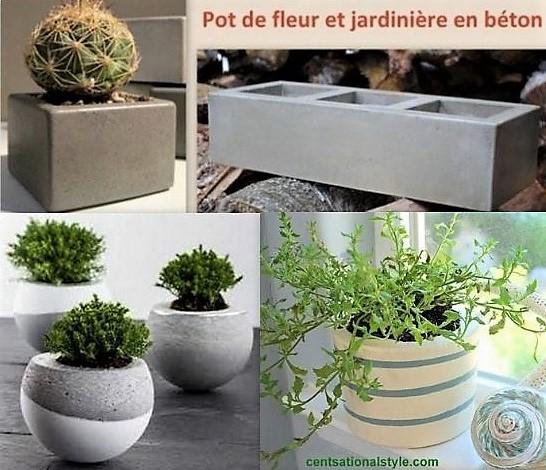 Faire des pots de fleurs en ciment les tutos - Fabriquer ses jardinieres en bois ...