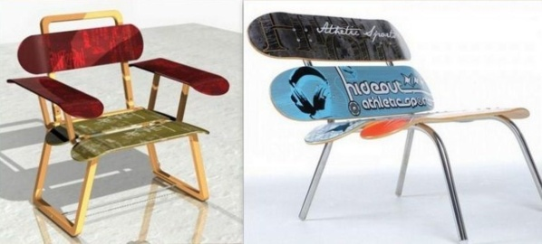 id es pour recycler des planches de skateboard. Black Bedroom Furniture Sets. Home Design Ideas