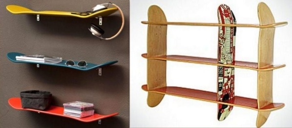 Idées pour recycler des planches de Skateboard