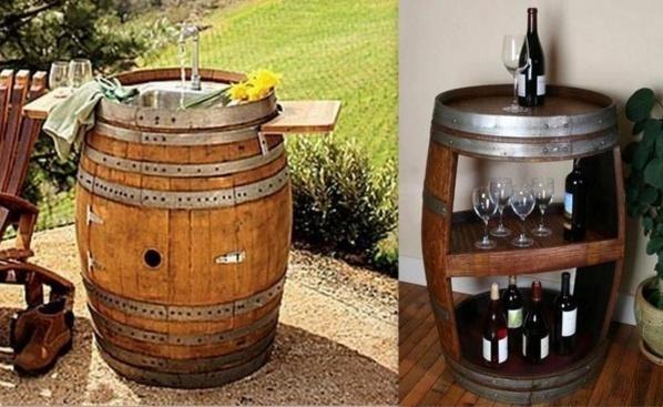 id es pour recycler des tonneaux en bois. Black Bedroom Furniture Sets. Home Design Ideas
