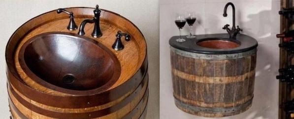 Table avec tonneau bar en tonneau wine barrel coffee for Louis jardin wine