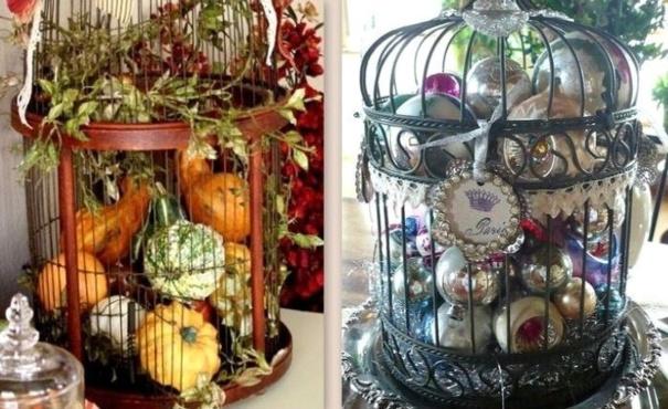Idées récup et déco cages à oiseaux !