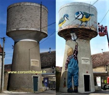 De superbes châteaux d'eau transformés en oeuvres d'art
