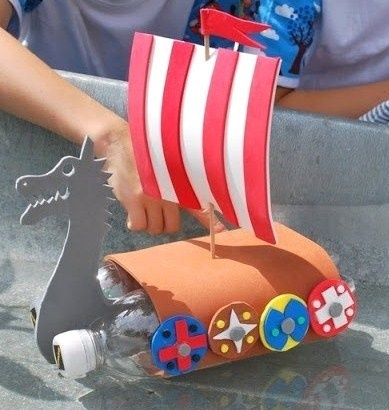 r cup faire un bateau miniature pour les enfants. Black Bedroom Furniture Sets. Home Design Ideas