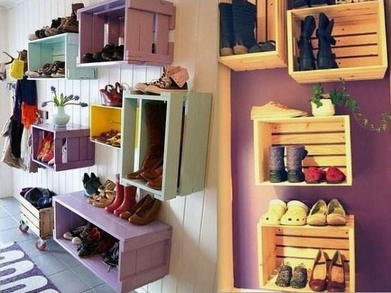 Id es de rangement pour chaussures - Idee rangement chaussures ...