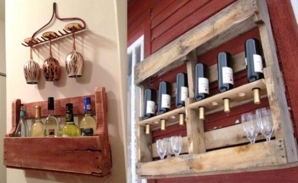 Faire une tag re bistrot en palettes - Faire une etagere en bois ...