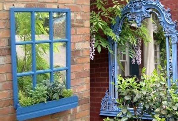 Installer des miroirs au jardin Perspectives deco