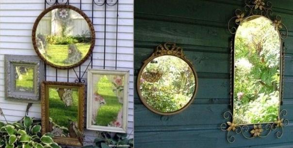 Installer des miroirs au jardin for Pinterest deco jardin