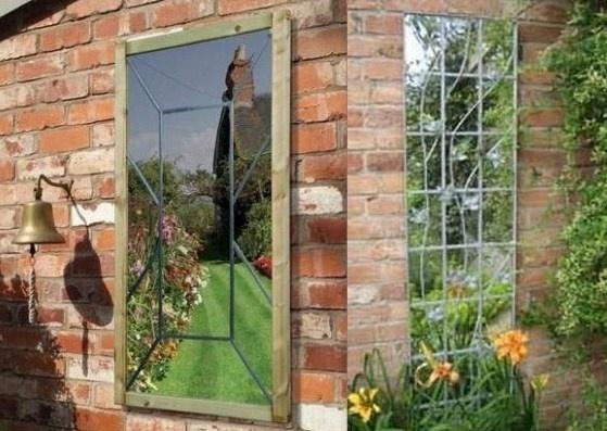 installer des miroirs au jardin. Black Bedroom Furniture Sets. Home Design Ideas
