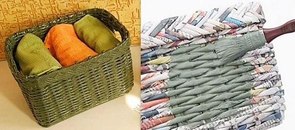 tutoriel faire une corbeille en papier journal. Black Bedroom Furniture Sets. Home Design Ideas