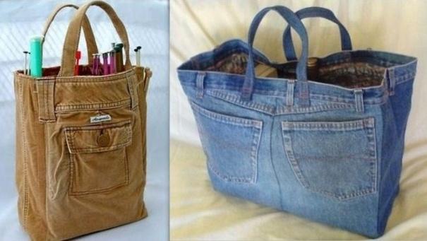 recycler ses habits pour en faire des sacs. Black Bedroom Furniture Sets. Home Design Ideas