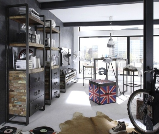 le mobilier industriel se veut tendance. Black Bedroom Furniture Sets. Home Design Ideas
