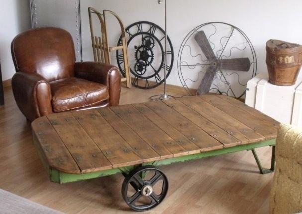 Le mobilier industriel se veut tendance !