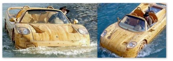 voiture flottante