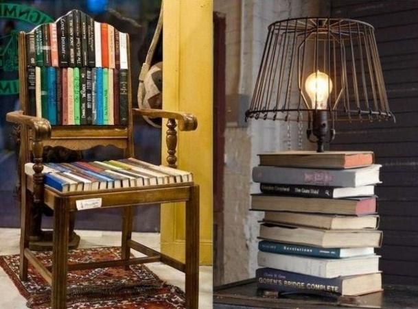 quoi faire avec de vieux livres id es recyclage. Black Bedroom Furniture Sets. Home Design Ideas