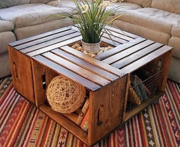 3 idées pour faire une table basse en récup