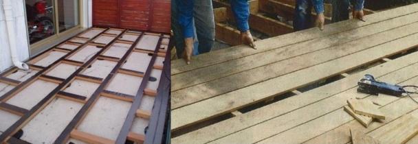 Comment faire soi m u00eame sa terrasse en bois # Fabriquer Sa Terrasse En Bois
