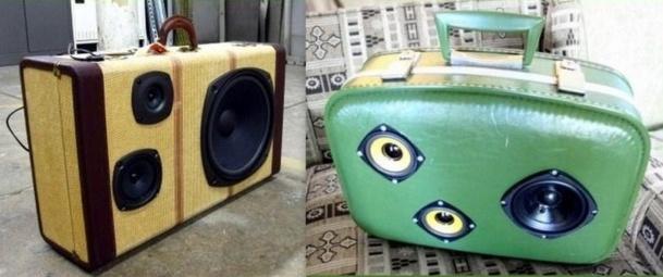 Les Boomcases ou boombox, les valises hauts parleurs au look vintage