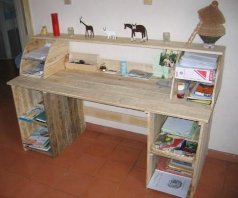 Faire un bureau en bois de palette des mod les for Idee palette en bois