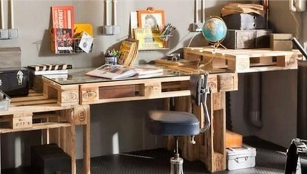 Faire un bureau en bois de palette, des mod u00e8les # Bureau En Bois De Palette