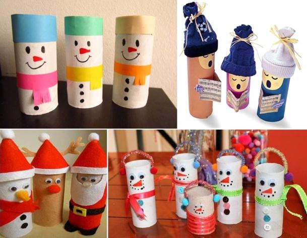 faire des personnages de nol avec de la rcup - Que Faire Avec Des Rouleaux De Papier Toilette Pour Noel