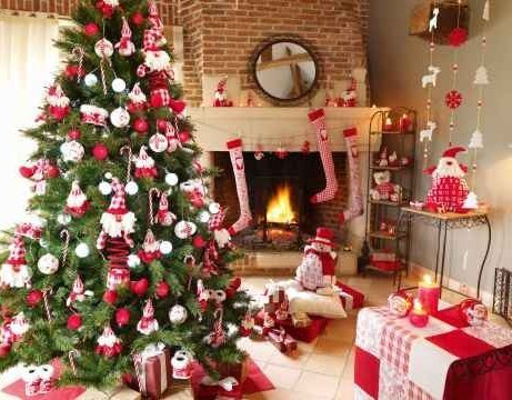 Jolies décorations intérieures de Noël