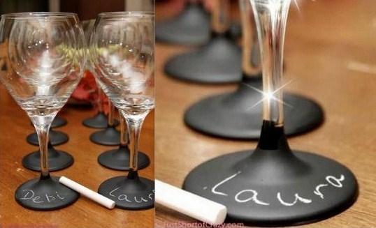 ... vos invités. source : blog de Shoji tutoriel verres peinture ardoise
