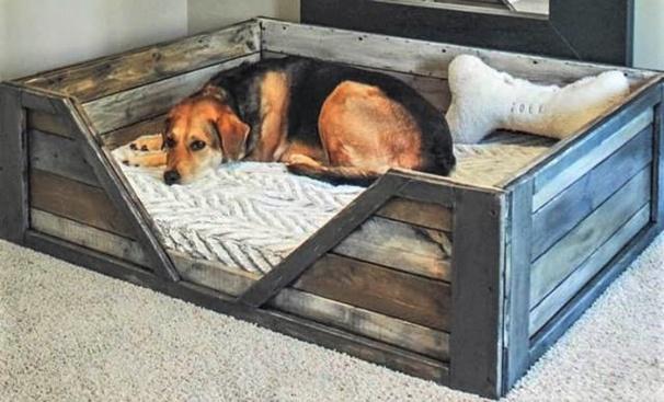 Id es pour faire niche et couchette d 39 int rieur pour - Fabriquer un lit pour chien ...