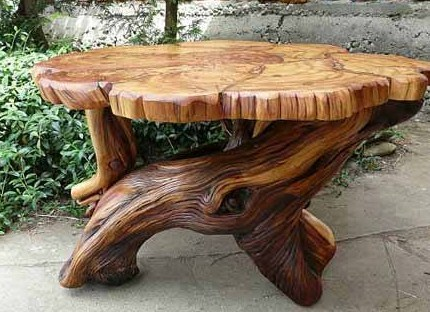 Stunning Table De Jardin En Rondin De Bois Ideas - Amazing House ...