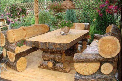 Tables de jardin originales, insolites, recyclées