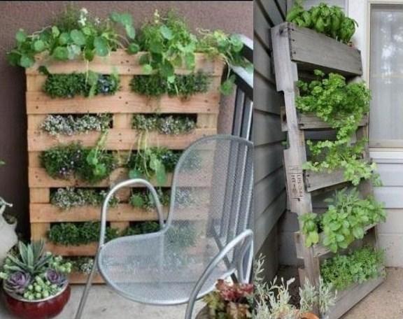 Recycler une palette en jardini re pour le jardin page 2 - Planter herbes aromatiques en pot ...