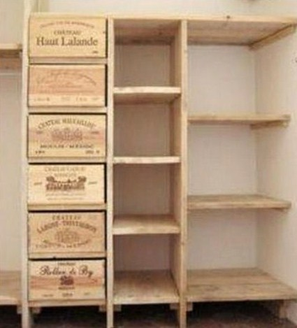 Idées recyclages caisses de vin