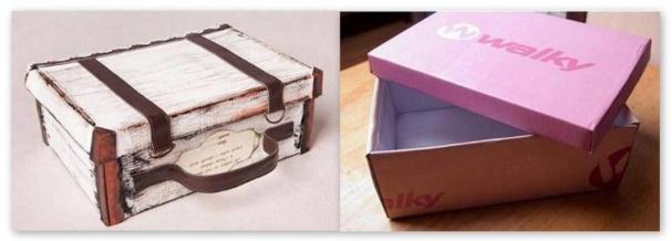 Id es pour recycler vos bo tes chaussures et vos cartons - Decorer boite carton pour anniversaire ...