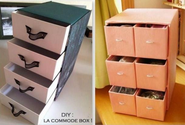 Id es pour recycler vos bo tes chaussures et vos cartons - Fabriquer une boite a bijoux avec une boite a chaussure ...