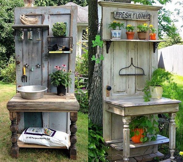 id es pour recycler vos vieilles portes page 2. Black Bedroom Furniture Sets. Home Design Ideas