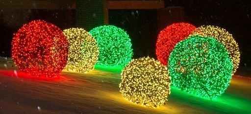 D co de no l faire une boule lumineuse pour le jardin for Poule decoration exterieur