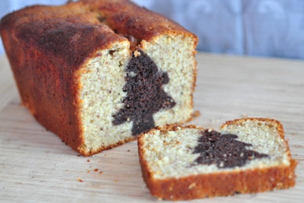 6 recettes cakes surprises de no l. Black Bedroom Furniture Sets. Home Design Ideas