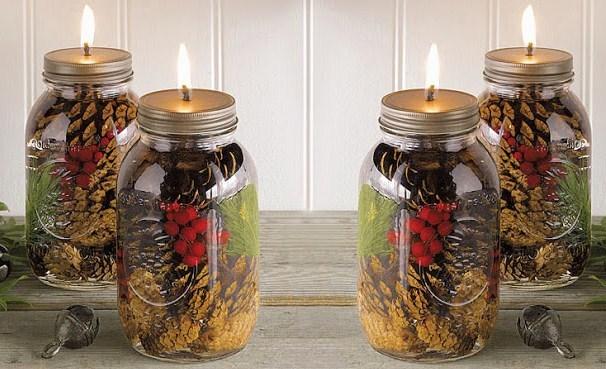 Faire une lampe huile les tutos - Deco noel fabrication maison ...