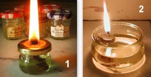 Faire une lampe à huile, les tutos