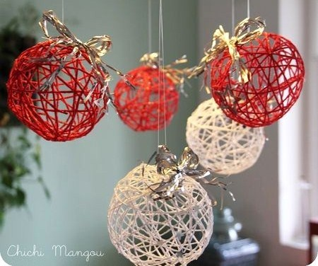 Tutos boules de no l en laine - Comment faire une decoration de noel en papier ...