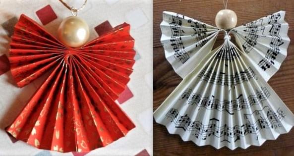 7 tutos de Noël récup et recyclage pour faire : sapin, pompons, flocons et anges de Noël.