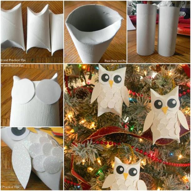 Des id es pour recycler vos rouleaux de papier toilette - Decoration de noel pour enfant ...