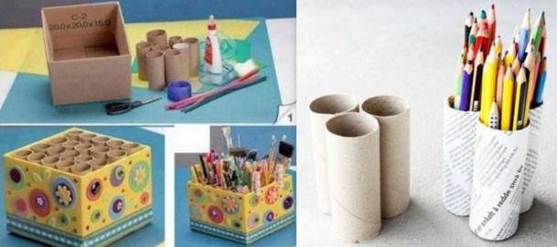 Des id es pour recycler vos rouleaux de papier toilette - Fabriquer une boite a bijoux avec une boite a chaussure ...