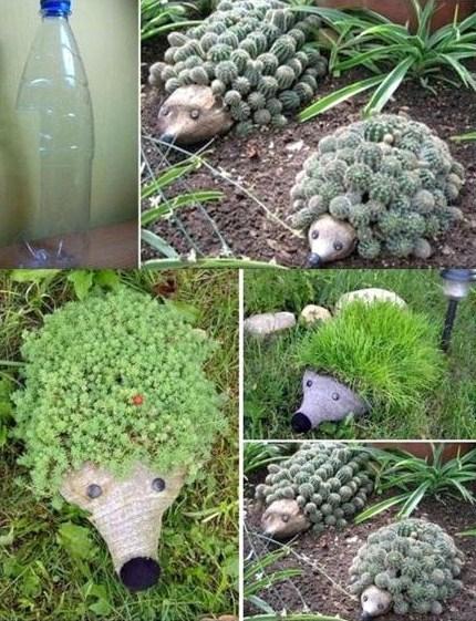 Jardinières en bouteille plastique, de la récup utile et économique !