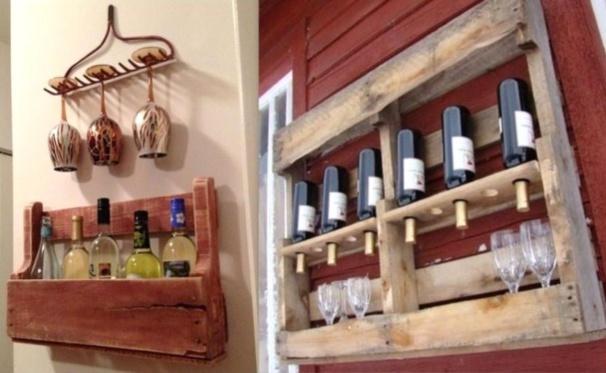 Etagères à épices grand format en bois de palette pour la cuisine