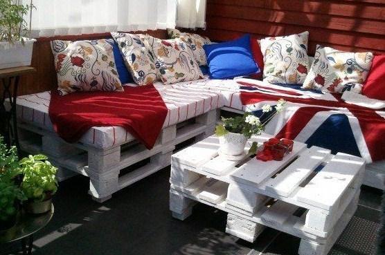 modèles de salons de jardin fabriqués en bois de palettes